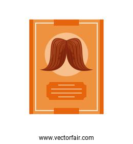 fathers day card template with mustache