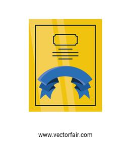 fathers day card template with decorative ribbon
