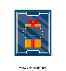 fathers day card template with gift box