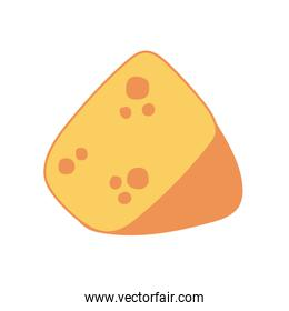 cheese portion hand draw style icon