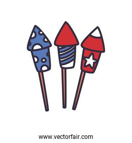 fireworks fill style icon vector design