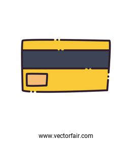 Credit card flat style icon vector design