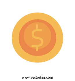 coin flat style icon vector design
