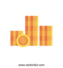 coins flat style icon vector design