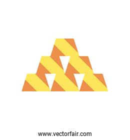 Gold bars flat style icon vector design