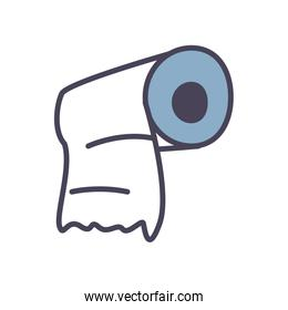 Isolated toilet paper fill style icon vector design