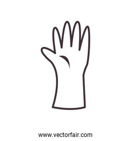 Isolated glove line style icon vector design