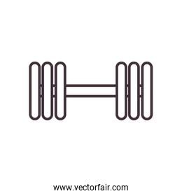 Gym weight line style icon vector design