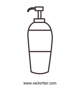 Isolated soap dispenser line style icon vector design