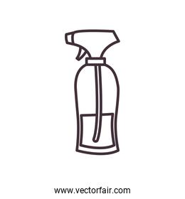 Isolated spray bottle line style icon vector design