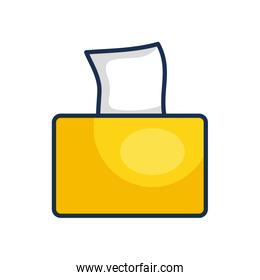 tissues box icon, line color style