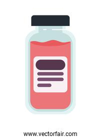 Isolated medicine jar vector design