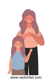 Mother with daughter vector design