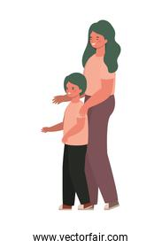 Mother with son vector design