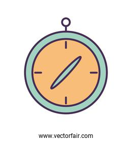 Isolated chronometer line and fill style icon vector design