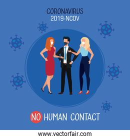 campaign of no human contact at office for covid 19