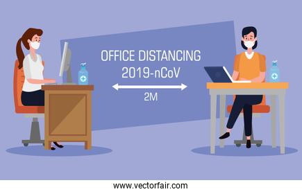 campaign of social distancing at office for covid 19