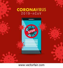 campaign of stop 2019 ncov in smartphone