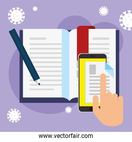 smartphone and objects for education online