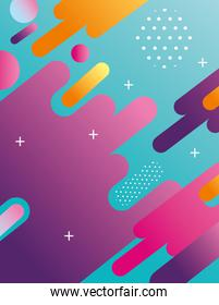 colorful geometric abstract background icon