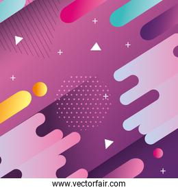 colorful geometric abstract background purple color