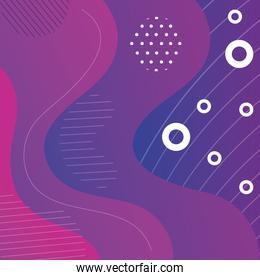 colorful geometric abstract wallpaper with waves purple color