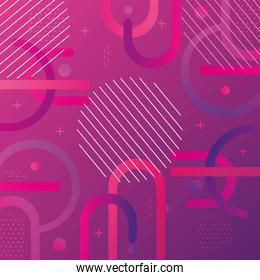 colorful geometric abstract background pink color