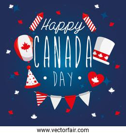 happy canada day with decoration