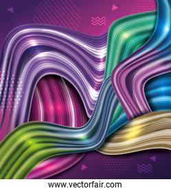 background vibrant abstract with waves