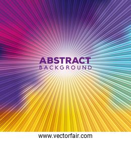 background vibrant abstract of multicolor