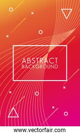 rectangle frame in colorful abstract background