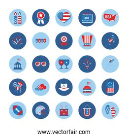 bundle of independence day usa icons