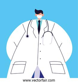 male doctor with medical mask, medical staff