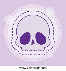 Cute white skull vector design