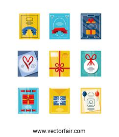 set of fathers day cards