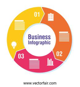 business infographic with numbers icons