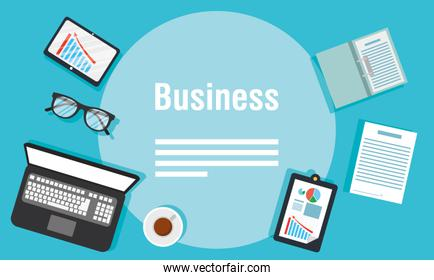 business banners with laptop icons