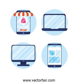 shopping online tech in devices
