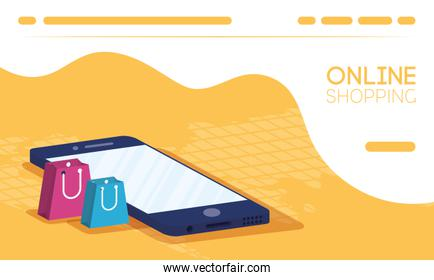 shopping online tech in smartphone