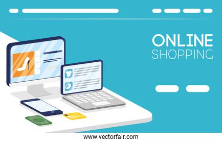shopping online tech in electronic devices