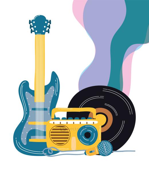 electric guitar and musical instruments