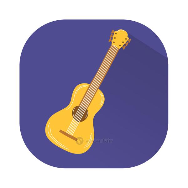 guitar musical instrument decorative icon