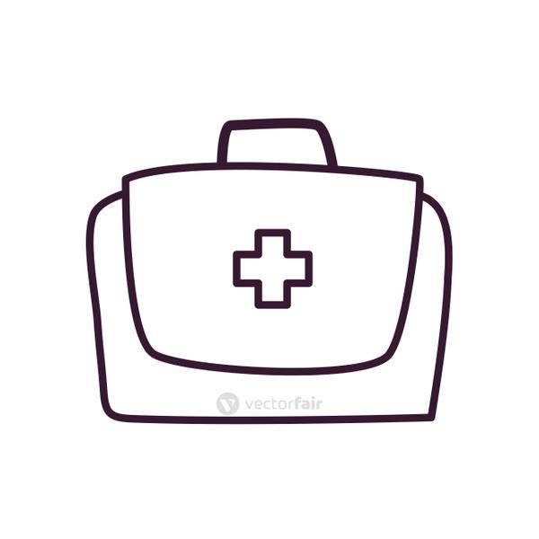 Medical kit line style icon vector design
