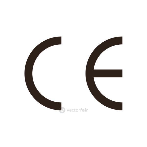 ce marking flat style icon vector design