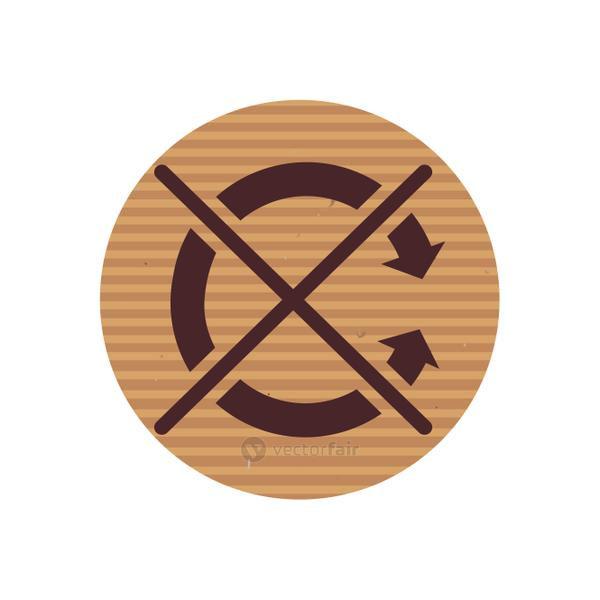 Do not roll line style icon vector design