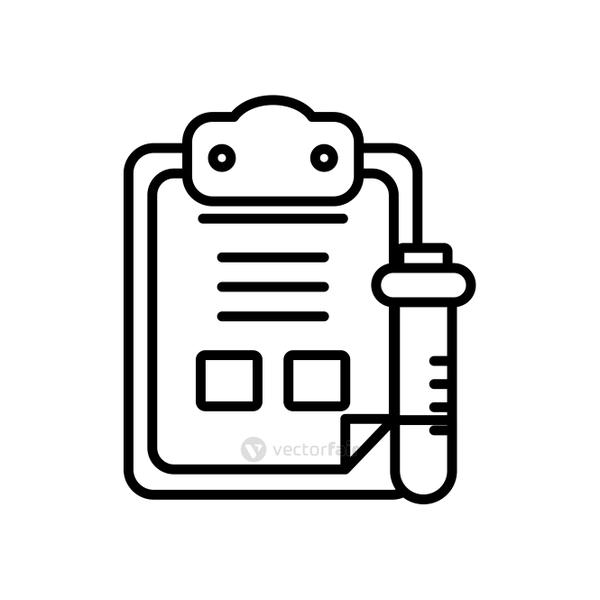 medical analysis report icon, line style