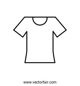 Isolated tshirt line style icon vector design