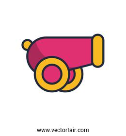 cannon weapon fill style icon