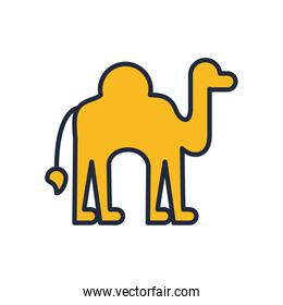 camel animal fill style icon