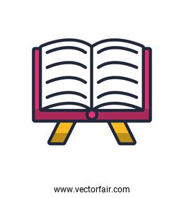 sacred book fill style icon